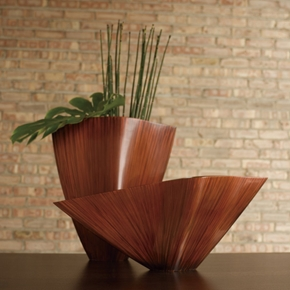 Shira Leah - Orange Ray Vases #30-04-003-4 :  home accessory home deco vase home accent