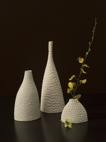 Shira Leah - Honeycomb Vases S/3 #30-19-003 :  home deco sale vase white